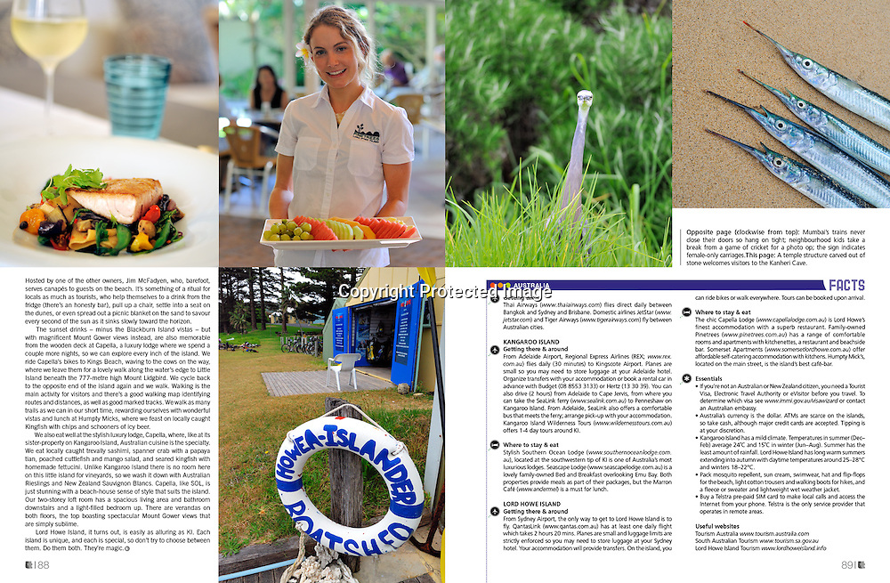Lifestyle+Travel Magazine feature on Australia's Islands.