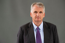 """Edinburgh, Scotland, UK. 26 August, 2018. Pictured; Timothy Snyder, in his book """"The Road to Unfreedom"""" , he shows how Putin's authoritarianism is spreading, aided by Russian warfare in Ukraine and cyber attacks in Europe and America."""