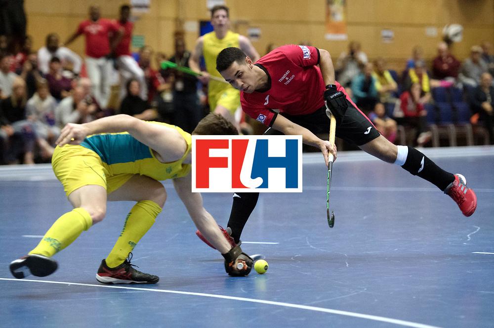 BERLIN - Indoor Hockey World Cup<br /> Trinidad &amp; Tobago - Australia<br /> foto: Jordan Vieira <br /> WORLDSPORTPICS COPYRIGHT FRANK UIJLENBROEK