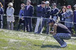 October 21, 2017 - Seogwipo, Jeju Island, South Korea - Anirban Lahiri of India check for putt on the 10th hole during an PGA TOUR CJ CUP NINE BRIDGE DAY 3 at Nine Bridge CC in Jeju Island, South Korea. (Credit Image: © Ryu Seung Il via ZUMA Wire)