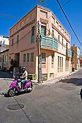Building corner, Neve Tzedek, Tel Aviv, Israel,