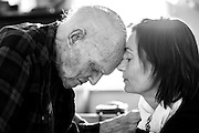 "I photographed Reverend Gerald Gilmore, 100, and his granddaughter, Nina Gilmore,at his home in Orleans. Nina had come to Cape Cod to spend the last few months with her grandfather. I was so moved by the connection between Nina and her grandfather who, she said, was like a father to her. ""He was filled with adventure, whimsy and light,"" she told me. I thought this moment captured the bond between them. A few days after this photo was taken, Reverend Gilmore passed away."