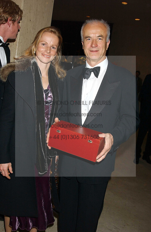 MR &amp; MRS DIETRICH VON BOETTICHER at the Cartier Racing Awards held at the Four Seasons Hotel, Hamilton Place, London W1 on 16th November 2005.<br /><br />NON EXCLUSIVE - WORLD RIGHTS
