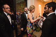 Kevin Spacey, Judd Apatow, Leslie Mann, and Aziz Ansari, from left, arrive at the Bloomberg Vanity Fair White House Correspondents' Association dinner afterparty at the residence of the French Ambassador on Saturday, April 28, 2012 in Washington, DC. Brendan Hoffman for the New York Times