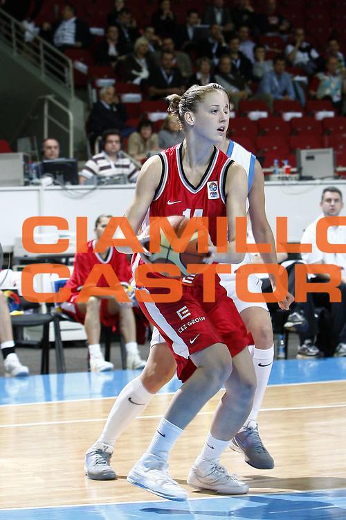 DESCRIZIONE : Riga Latvia Lettonia Eurobasket Women 2009 Qualifying Round Grecia Repubblica Ceca Greece Czech Republic<br /> GIOCATORE : Katerina Elothova<br /> SQUADRA : Repubblica Ceca Czech Republic<br /> EVENTO : Eurobasket Women 2009 Campionati Europei Donne 2009 <br /> GARA : Grecia Repubblica Ceca Greece Czech Republic<br /> DATA : 13/06/2009 <br /> CATEGORIA : palleggio<br /> SPORT : Pallacanestro <br /> AUTORE : Agenzia Ciamillo-Castoria/E.Castoria<br /> Galleria : Eurobasket Women 2009 <br /> Fotonotizia : Riga Latvia Lettonia Eurobasket Women 2009 Qualifying Round Grecia Repubblica Ceca Greece Czech Republic<br /> Predefinita :