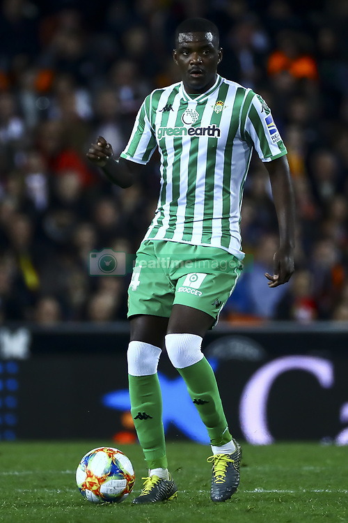 February 28, 2019 - Valencia, Spain - William Silva de Carvalho of Real Betis Balompie  During Spanish King La Copa match between  Valencia cf vs Real Betis Balompie Second leg  at Mestalla Stadium on February 28, 2019. (Photo by Jose Miguel Fernandez/NurPhoto) (Credit Image: © Jose Miguel Fernandez/NurPhoto via ZUMA Press)