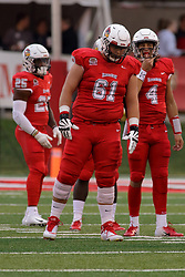 NORMAL, IL - September 08: Chad Kanugh and Brady Davis during 107th Mid-America Classic college football game between the ISU (Illinois State University) Redbirds and the Eastern Illinois Panthers on September 08 2018 at Hancock Stadium in Normal, IL. (Photo by Alan Look)