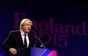 LONDON, ENGLAND - DECEMBER 03:  Boris Johnson the Mayor of London speaks prior to during the IRB Rugby World Cup 2015 pool allocation draw at the Tate Modern on December 3, 2012 in London, England.  (Photo by David Rogers/Getty Images for IRB)