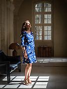 Avignon, France le 21/07/2016<br /> <br /> Portrait de  Aur&eacute;lie Filippetti, Ministre de la Culture de Mai 2012 a Aout 2014, a l'h&ocirc;tel du Cloitre St Louis a Avignon<br /> <br /> &copy;Arnold Jerocki/Divergence