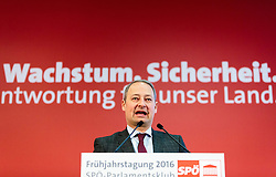 14.03.2016, Gut Brandlhof, Saalfelden, AUT, SPOe, Fruehjahrstagung, Arbeit. Wachstum. Sicherheit, im Bild Klubobmann SPÖ Andreas Schieder // Leader of the Parliamentary Group SPOe Andreas Schieder during convention of the austrian social democratic party in Saalfelden, Austria on 2016/03/14. EXPA Pictures © 2016, PhotoCredit: EXPA/ JFK