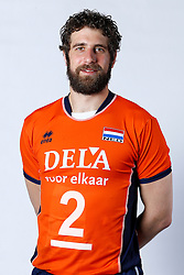 20150506 NED: Selectie Nederlands volleybal team mannen, Arnhem<br />Op Papendal werd het Nederlands team volleybal seizoen 2015-2016 gepresenteerd / Yannick van Harskamp<br />©2015-FotoHoogendoorn.nl / Pim Waslander