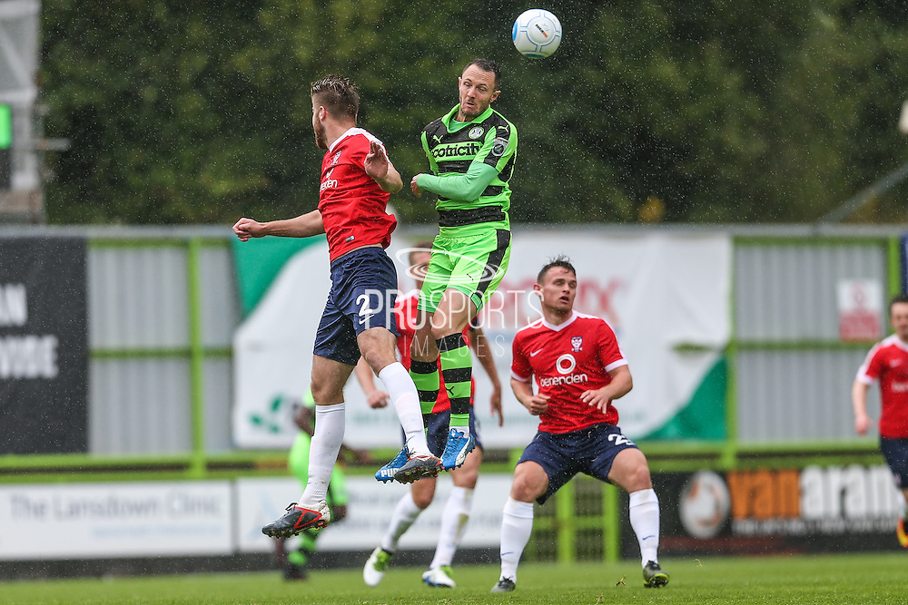 Forest Green Rovers Rhys Murphy (39) wins a header during the Vanarama National League match between Forest Green Rovers and York City at the New Lawn, Forest Green, United Kingdom on 20 August 2016. Photo by Shane Healey.