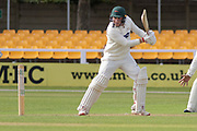Callum Parkinson batting during the Specsavers County Champ Div 2 match between Leicestershire County Cricket Club and Lancashire County Cricket Club at the Fischer County Ground, Grace Road, Leicester, United Kingdom on 23 September 2019.