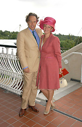 The EARL & COUNTESS OF MARCH & KINRARA at the 3rd day of the Glorious Goodrwood Racing festival 2006 - Ladies Day, at Goodwood Race course, West Sussex on 3rd August 2006.<br />