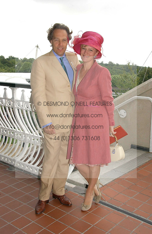 The EARL &amp; COUNTESS OF MARCH &amp; KINRARA at the 3rd day of the Glorious Goodrwood Racing festival 2006 - Ladies Day, at Goodwood Race course, West Sussex on 3rd August 2006.<br />