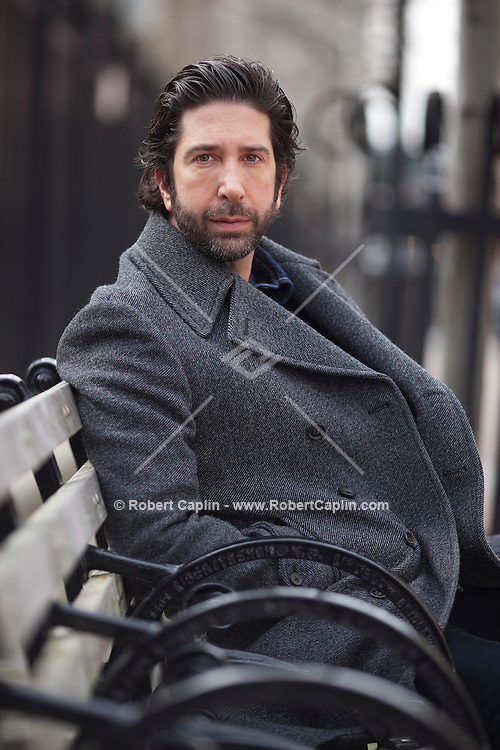 Actor and director David Schwimmer in New York. ..Photo by Robert Caplin.