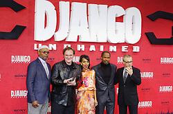 Django Unchained Berlin Premiere. (LtoR) Samuel L. Jackson, Quentin Tarantino, Kerry Washington, Jamie Foxx, Christoph Waltz, Cinestar Sony Center, Berlin, Germany, January 8, 2013. Photo by Imago / i-Images...UK ONLY
