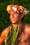 Solo Bale, Fire Dance performer at Shangri-La Resort, Coral Coast, Viti Levu Island, Fiji.