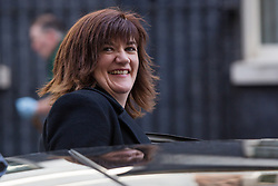 © Licensed to London News Pictures. 12/04/2016. London, UK. NICKY MORGAN leaves a cabinet meeting at 10 Downing Street. Photo credit : Vickie Flores/LNP