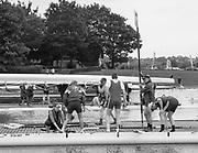Nottingham. United Kingdom. <br /> <br /> GB Masters Championships, National Water Centre, Holme Pierrepont<br /> <br /> Saturday   10/06/2017<br /> <br /> <br /> [Mandatory Credit Peter SPURRIER/Intersport Images] Crews preparing to boat, to compete.