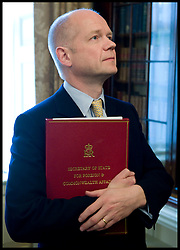First Secretary of State, Secretary of State for Foreign and Commonwealth Affairs William Hague inside the Cabinet room, Wednesday May 12, 2010.  Photo By Andrew Parsons/i-Images