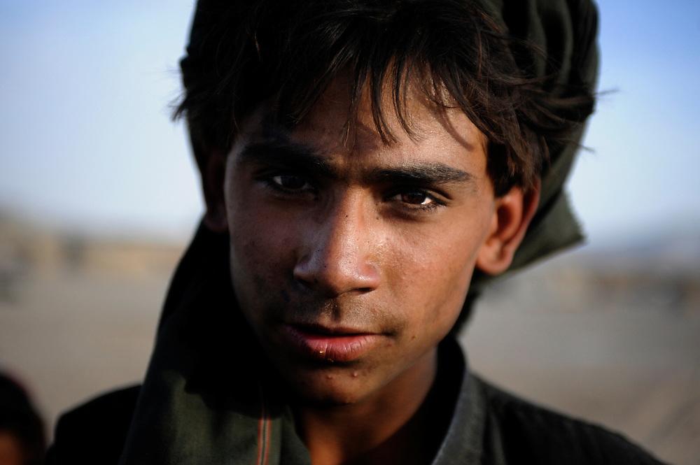 Portrait of a Taliban boy in Kandahar, Afghanistan.