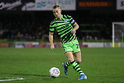 Forest Green Rovers Joseph Mills(23) on the ball during the EFL Sky Bet League 2 match between Forest Green Rovers and Swindon Town at the New Lawn, Forest Green, United Kingdom on 21 December 2019.