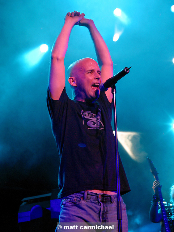 Moby performs at the Chicago Area Two stop.