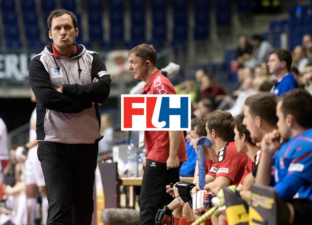 BERLIN - Indoor Hockey World Cup<br /> Men: Switzerland - Belgium<br /> foto: ELSTE Chris.<br /> WORLDSPORTPICS COPYRIGHT FRANK UIJLENBROEK