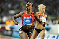 Friidrett<br /> IAAF Diamond League<br /> Brussel 16.09.2011<br /> Foto: PhotoNews/Digitalsport<br /> NORWAY ONLY<br /> <br /> Carmelita Jeter (USA) celebrates here victory on the 100m women