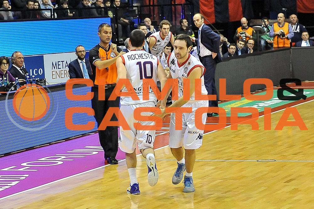 Taylor Rochestie, Dimistris Tsaldaris<br /> Angelico Biella - Banco di Sardegna Dinamo Sassari<br /> Legabasket Serie A Beko 2012-2013<br /> Biella, 20/01/2013<br /> Foto L.Canu / Ciamillo-Castoria