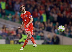 DUBLIN, IRELAND - Tuesday, October 16, 2018: Wales' Joe Allen during the UEFA Nations League Group Stage League B Group 4 match between Republic of Ireland and Wales at the Aviva Stadium. (Pic by Paul Greenwood/Propaganda)