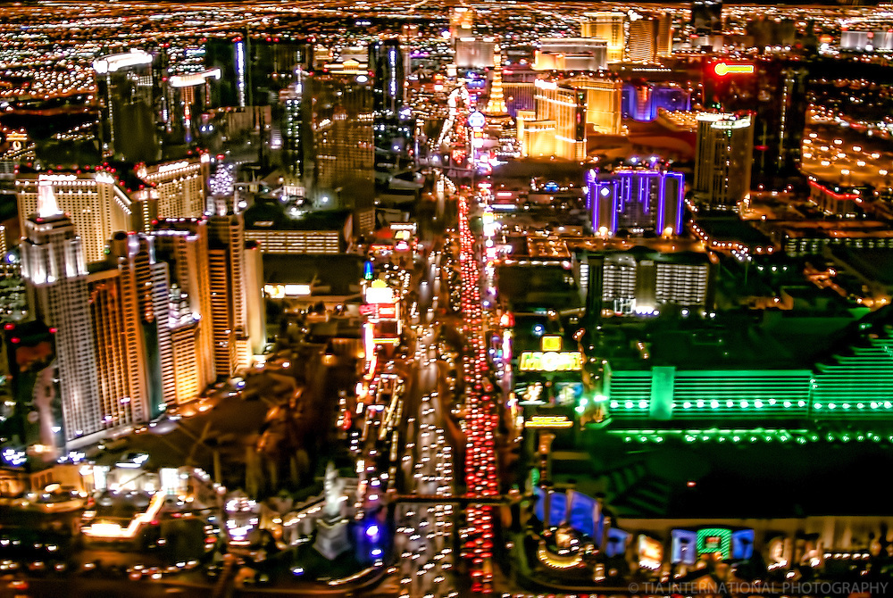Night Aerial View, Las Vegas Strip