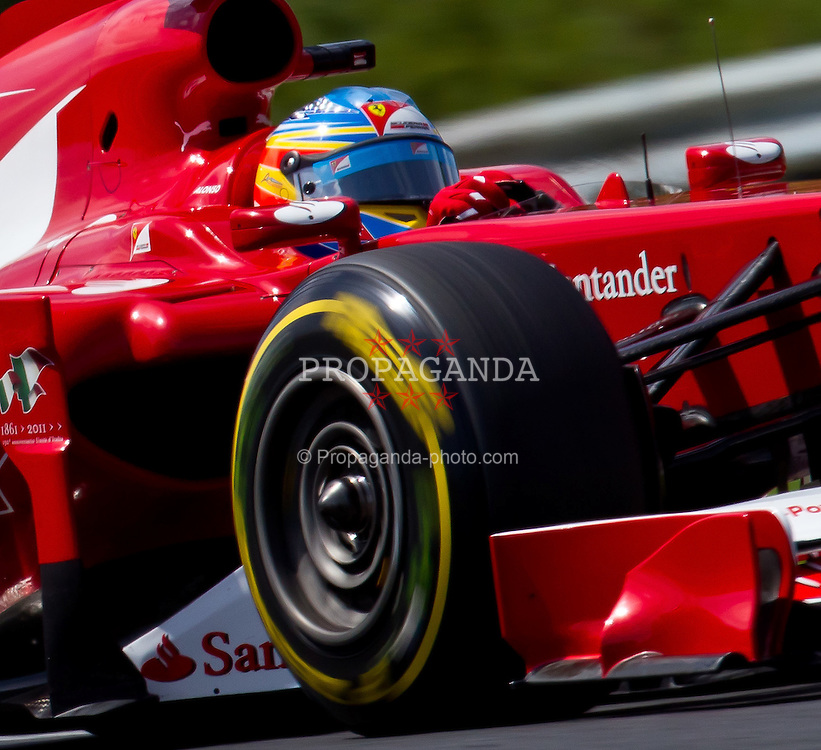 30.07.2011, Hungaroring, Budapest, HUN, F1, Grosser Preis von Ungarn, Hungaroring, im Bild Fernando Alonso (ESP), Scuderia Ferrari // during the Formula One Championships 2011 Hungarian Grand Prix held at the Hungaroring, near Budapest, Hungary, 2011-07-30, EXPA Pictures © 2011, PhotoCredit: EXPA/ J. Feichter