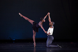 Ashley Murphy and Davon Dowe, Dance Theatre of Harlem. Murphy who loves the outdoor theater space at Reichhold says that the natural environment  bring something else to her dancing.  © Aisha-Zakiya Boyd