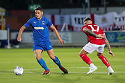 AFC Wimbledon midfielder Anthony Hartigan (8) dribbling during the Pre-Season Friendly match between AFC Wimbledon and Bristol City at the Cherry Red Records Stadium, Kingston, England on 9 July 2019.