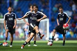 Shinji Okazaki of Leicester City warms up - Mandatory byline: Jason Brown/JMP - 15/05/2016 - FOOTBALL - London, Stamford Bridge - Chelsea v Leicester City - Barclays Premier League