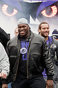 The Baltimore Ravens offensive lineman Kelechi Osemele at the teams Super Bowl XLVII Celebration at M&T Bank Stadium on Tuesday, February 5, 2013 in Baltimore, MD.