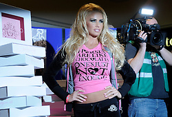 © under license to London News Pictures. 2011.01.08 Katie Price promoting her KP Baby and KP Equestrian clothing ranges outside the Debenhams store at Lakeside Shopping Centre, West Thurrock, Essex... Picture credit should read Grant Falvey/London News Pictures...