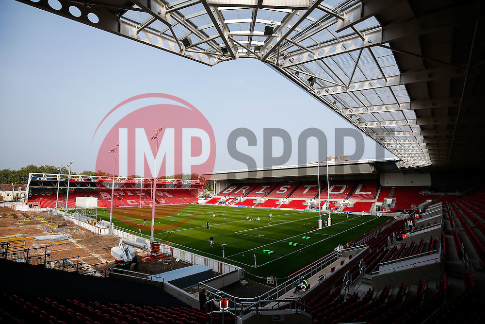 General View as building works continue at Ashton Gate - Mandatory byline: Rogan Thomson/JMP - 07966 386802 - 04/10/2015 - RUGBY UNION - Ashton Gate Stadium - Bristol, England - Bristol Rugby v Rotherham Titans - Greene King IPA Championship.
