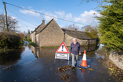 © Licensed to London News Pictures 16/11/2019, Cerney Wick, UK. Flooded roads in the village of Cerney Wick after more heavy rain fall.. Photo Credit : Stephen Shepherd/LNP