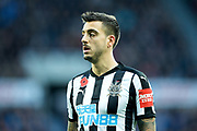 Joselu (#21) of Newcastle United during the Premier League match between Newcastle United and Bournemouth at St. James's Park, Newcastle, England on 4 November 2017. Photo by Craig Doyle.