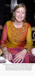 MISS JESSICA SAINSBURY, she is Princess Jessica Frankopan, at a dinner in London on 6th November 2001.	OTZ 6