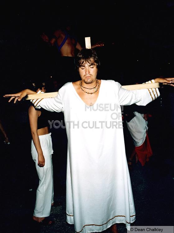 Man on a cross Ibiza 1999