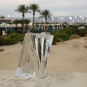 The BNP Paribas Open trophy is shown at the Indian Wells Tennis Garden in Indian Wells, California on Tuesday, March 17, 2015.<br /> (Photo by Billie Weiss/BNP Paribas Open)