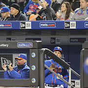 NEW YORK, NEW YORK - APRIL 11: Manager Terry Collins, New York Mets, in the dugout during the Miami Marlins Vs New York Mets MLB regular season ball game at Citi Field on April 11, 2016 in New York City. (Photo by Tim Clayton/Corbis via Getty Images)
