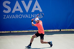 Christopher Heyman (BEL) play against Nikola Cacic (SRB) at ATP Challenger Zavarovalnica Sava Slovenia Open 2018, on August 5, 2018 in Sports centre, Portoroz/Portorose, Slovenia. Photo by Urban Urbanc / Sportida