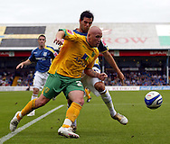 Cardiff - Saturday August 23rd, 2008: Joe Ledley of Cardiff City and  Matty Patison of Norwich City during the Coca Cola Championship match at The Ninian Park, Cardiff. (Pic by Paul Hollands/Focus Images)