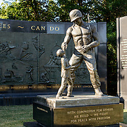 A memorial to US Navy Seabees at Arlington National Cemetery in Arlington, Virginia, just across from the National Mall in Washington DC.