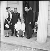 Prince Rainier and Princess Grace of Monaco and their children Caroline and Albert leave for a four day holiday in the west of Ireland, were they will stay at Ashford Castle at Cong, County Mayo..14.06.1961